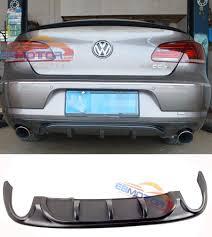 r line style rear bumper lip diffuser spoiler for volkswagen cc