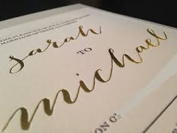 wedding invitations reviews vistaprint gold foil wedding invitations wcm