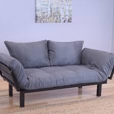 ebern designs everett black convertible lounger futon and mattress