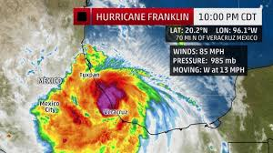 Mexico Hurricane Map by Franklin Becomes First Atlantic Hurricane Of 2017 Dangerous Flood