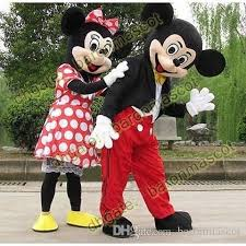 Minnie Mouse Costume Couple Mickey And Minnie Mouse Mascot Costume Cartoon Suit