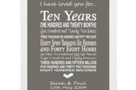 10 year anniversary gifts ten year anniversary gift for gift ideas
