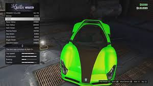 07 secret modded colors neon green lime sea gta 5 online car