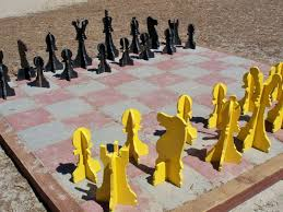 diy backyard chess set backyard fun pinterest chess sets