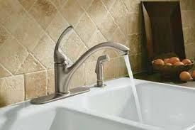 kitchen faucets kohler kohler k 10412 bn forte single kitchen sink faucet