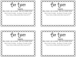subtraction exit tickets exit slips for quick assessments by the