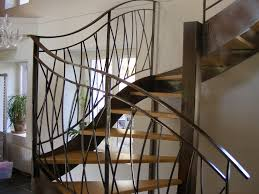 escalier design bois metal escalier garde corps métal bois hervé fazio serrurerie
