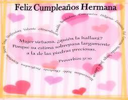 imagenes para cumpleaños de mi hermana hermoso mensaje de cumpleaños para mi hermana o el festejado