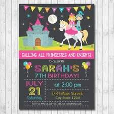 princess and knight birthday party invitation by eventfulcards