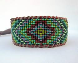 beaded leather cuff bracelet images Beaded bracelets on deer hide and leather jpeg