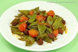 comment cuisiner les tomates haricots plats au safran chorizo et tomates cerise péché de