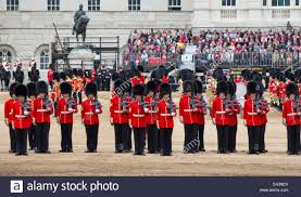 the 1st battalion coldstream guards are trooping their colour in
