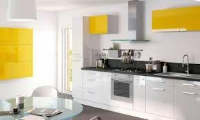 cuisine jaune et blanche déco cuisine jaune et blanc 73 fort de meuble de