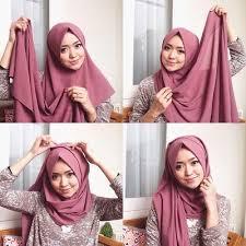 tutorial hijab pashmina tanpa dalaman ninja ladies inilah cara memakai pashmina tanpa ciput yang praktis banget