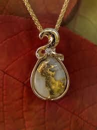 gold quartz necklace images Gold quartz pendant jpg