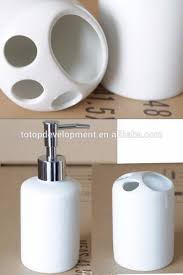 sublimation blank ceramic home bathroom accessory set toothpaste