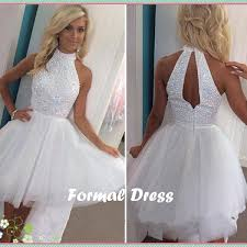 pretty dresses formal dress pretty white beading tulle prom dress