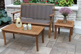 Wicker Accent Table Eucalyptus Wood Accent Table For Porches Patios And Decks