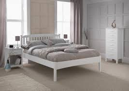 4ft Wooden Bed Frame Serene Eleanor 4ft Small White Wooden Bed Frame With Low