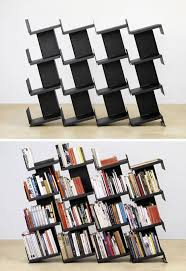 Modular Room Divider No Book Ends Modular Leaning Bookcase Room Divider