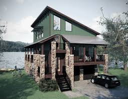 lake house plans for narrow lots lake home designs