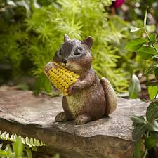 chipmunk with corn statue outdoor living outdoor decor lawn