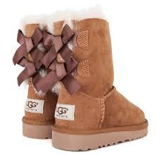 ugg s boots chestnut ugg bailey bow boot infant dtlr com