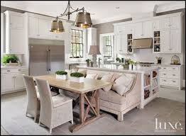 Is A Kitchen Banquette Right Banquette Pushed Right Up Against Island Or Peninsula Like It