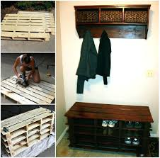 storage shoe bench awesome shoe storage bench made from pallets