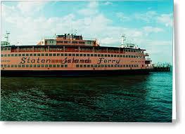 staten island ferry greeting cards america
