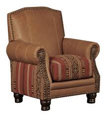 western creek bed chair western accent chairs warm tan leather