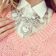silver pink necklace images Jewels necklace jewelery shiny pretty tumblr belt diamonds jpg