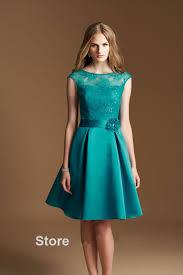 wholesale vintage green short bridesmaid dresses 2016 simple scoop