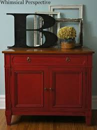 chalk painted furniture by color series red chalk paint red