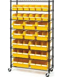 organization bins don t miss this bargain 24 bin rack with wheels storage shelves