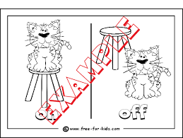 opposites colouring pages pre children