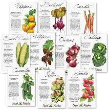 seed packets heirloom vegetable seed packet assortment 10 individual seed