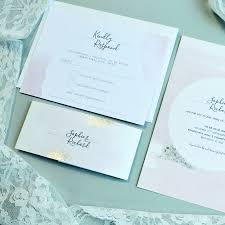 blush watercolour wedding invitation by amanda michelle design