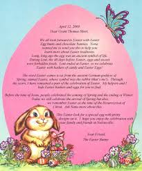 the story of the easter bunny letter from the easter bunny storyisyours
