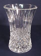 Vintage Waterford Crystal Signed 8 Inch Flower Vase In Waterford Crystal Flowers Ebay