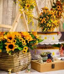 sunflower wedding decorations sunflowers wedding party inspirations happyinvitation