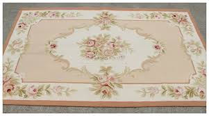 Rugs 3x5 3x5 Shabby French Chic Pink Ivory Aubusson Area Rug Home Decor
