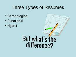 3 Types Of Resumes What U0027s The Biggest Difference Between A Chronological Resume And