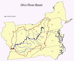 Ohio rivers images The ohio river watershed ohio river mainstem system map gif