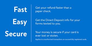 direct deposit card tax refund direct deposit for faster tax refund walmart moneycard