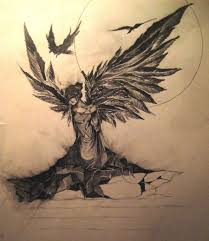 sad angel by ledomat on deviantart