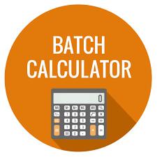 batch calculator wholesale supplies plus