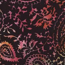 black batik green coral paisley design fabric by timeless
