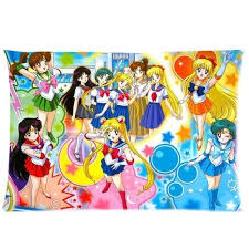 Anime Bed Sheets Cute Anime Girls Wear Sailor Suits Custom Pillow Cases Pillow