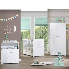 chambre de bebe complete a petit prix bebe chambre trio teddy lit 60x120cm commode armoire baby trop